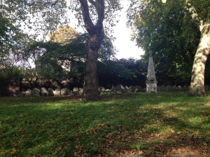 The headstones from way back when…plucked from their graves and dumped on the side for us to gawp at.